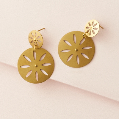 Matr Boomie Chameli Petal Coin Earrings