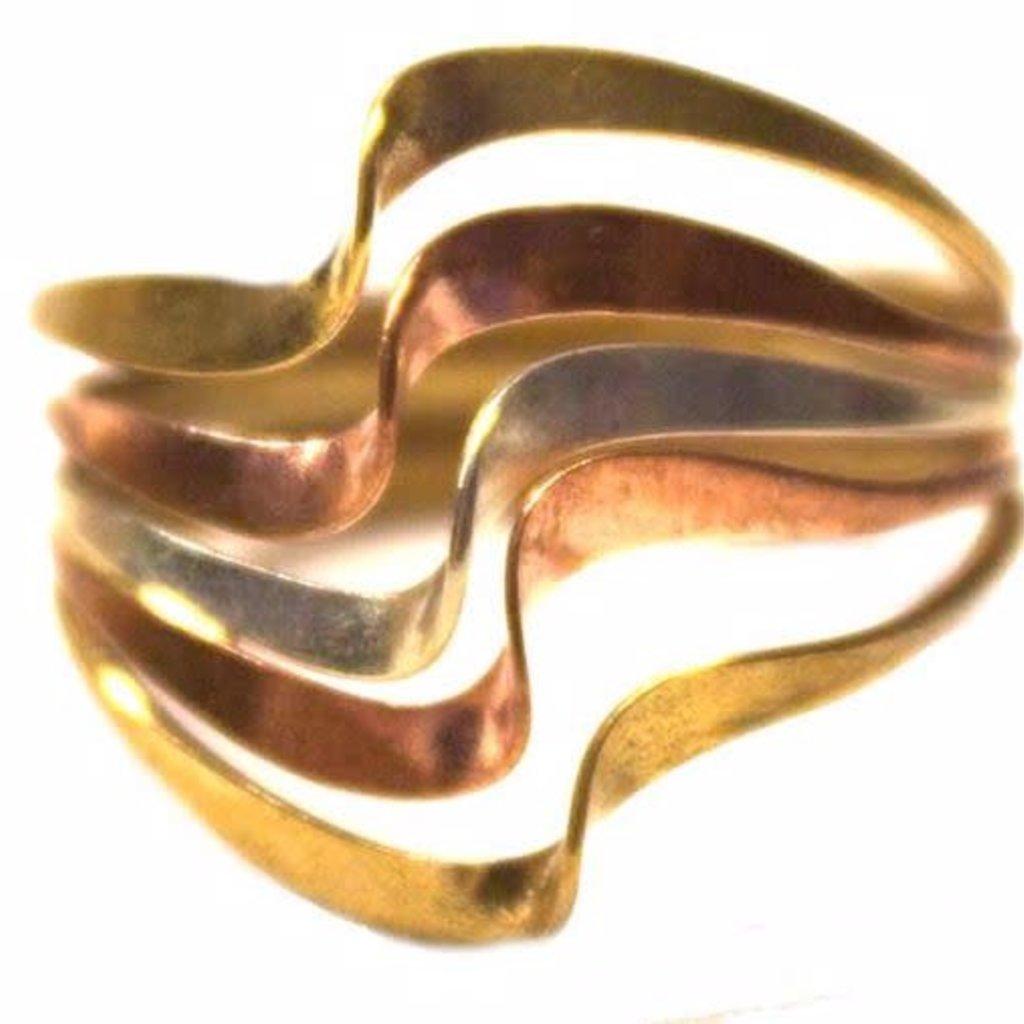 Unique Batik Tri-color Bonita Ring