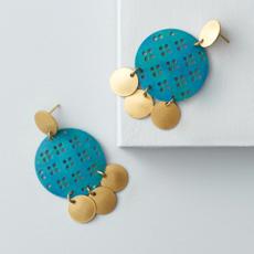 Matr Boomie Chameli Coin Cascade Earrings