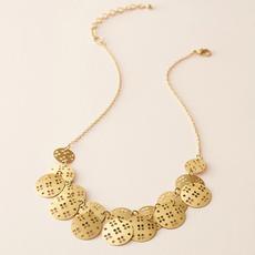 Matr Boomie Chameli Coin Cascade Necklace