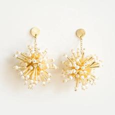 Mata Traders Fireworks Brass & Bead Stud Earrings
