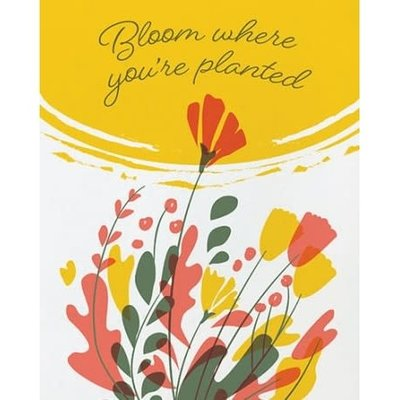 Good Paper Bloom Where Planted  Any Occasion Card
