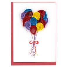 Quilling Card Balloons Quilled Gift Enclosure Card