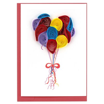 Quilling Card Balloons Quilled Gift Card