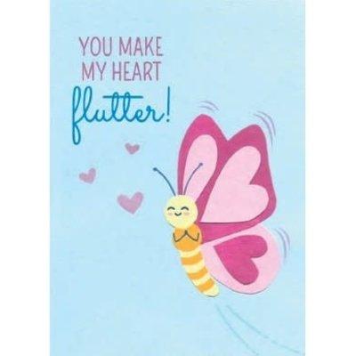 Good Paper You Make My Heart Flutter Love Card