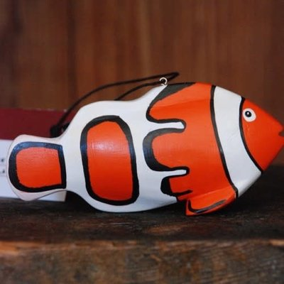 Women of the Cloud Forest Clownfish Balsa Wood Ornament