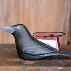 Women of the Cloud Forest Crow Balsa Wood Ornament