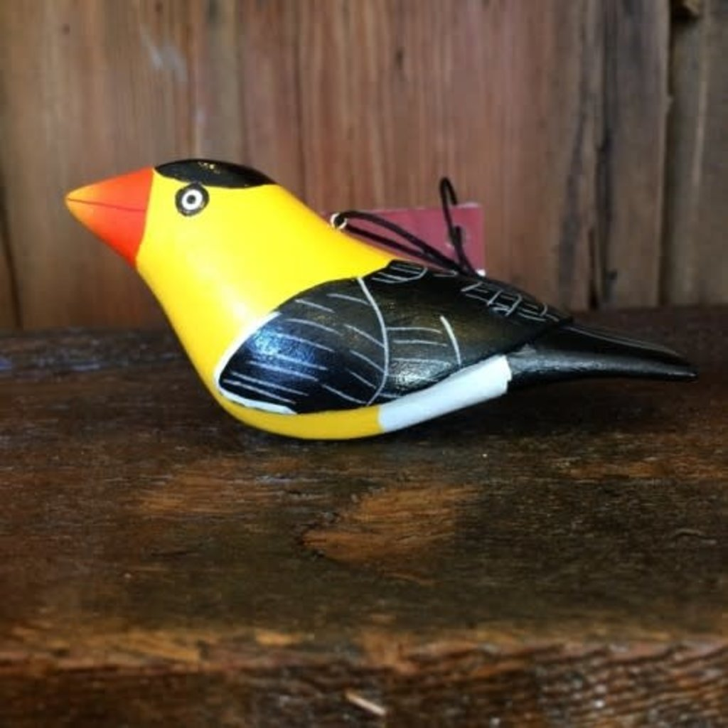 Women of the Cloud Forest Goldfinch Balsa Wood Ornament
