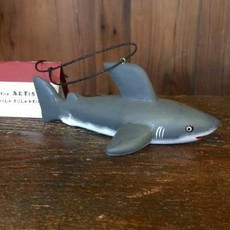 Women of the Cloud Forest Great White Shark Balsa Wood Ornament