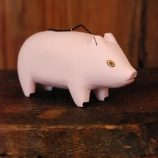 Women of the Cloud Forest Pig Balsa Wood Ornament