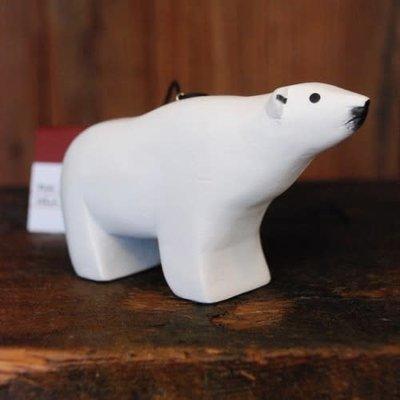 Women of the Cloud Forest Polar Bear Balsa Wood Ornament