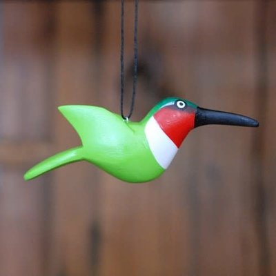 Women of the Cloud Forest Hummingbird Balsa Wood Ornament
