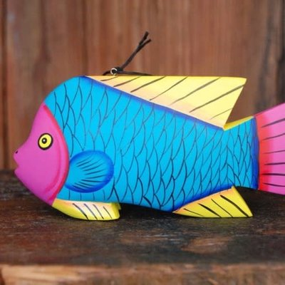 Women of the Cloud Forest Whimsical Fish Balsa Wood Ornament