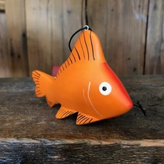 Women of the Cloud Forest Goldfish Balsa Wood Ornament