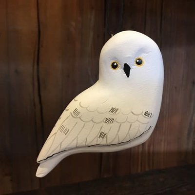 Women of the Cloud Forest Snowy Owl Balsa Wood Ornament