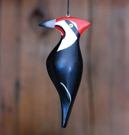 Women of the Cloud Forest Pileated Woodpecker Balsa Wood Ornament
