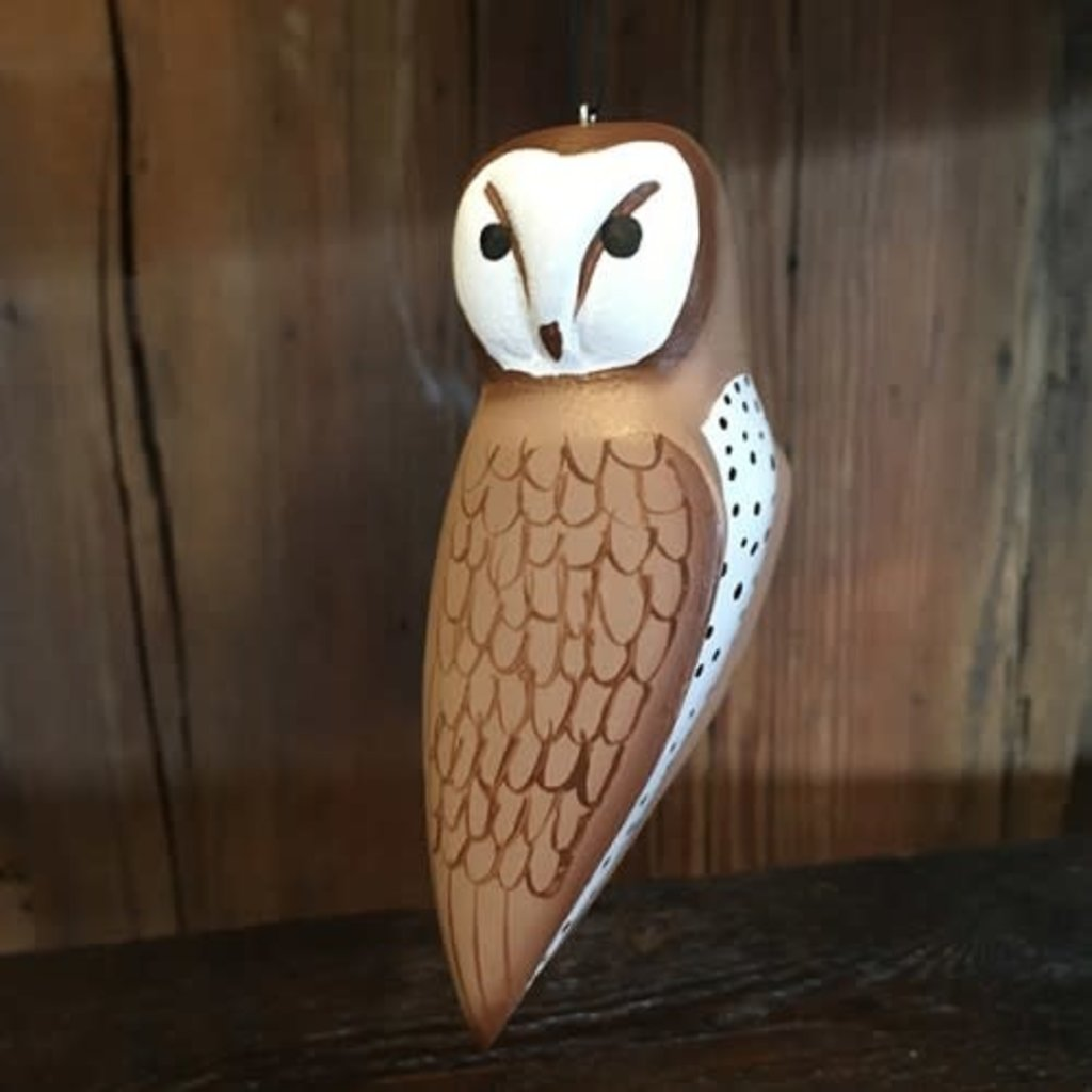 Women of the Cloud Forest Barn Owl Balsa Wood Ornament