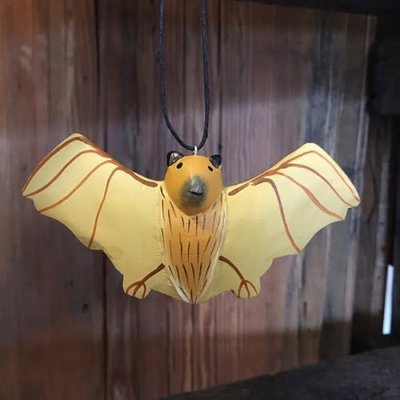 Women of the Cloud Forest Flying Bat Balsa Wood Ornament
