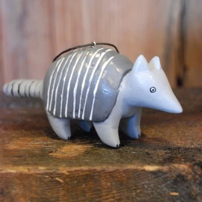 Women of the Cloud Forest Armadillo Balsa Wood Ornament