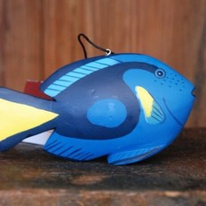 Women of the Cloud Forest Blue Tang Fish Balsa Wood Ornament