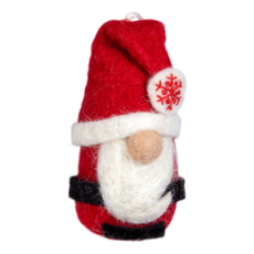 DZI Handmade Felt Chubby Santa Ornament