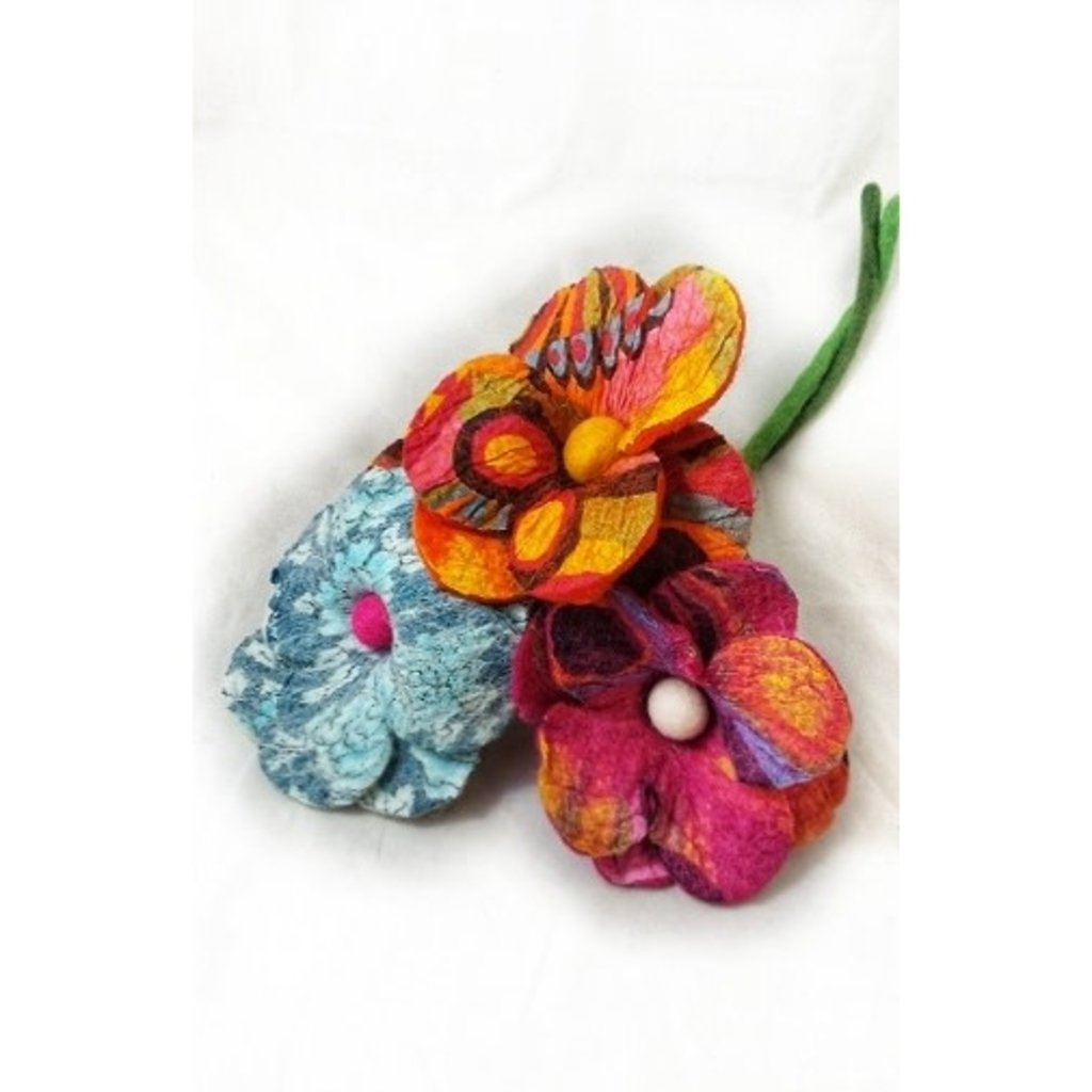 Ganesh Himal Cotton & Felt  Large Centerpiece Kapada Flowers