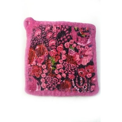 Ganesh Himal Cotton & Felt Floral Pot Holder