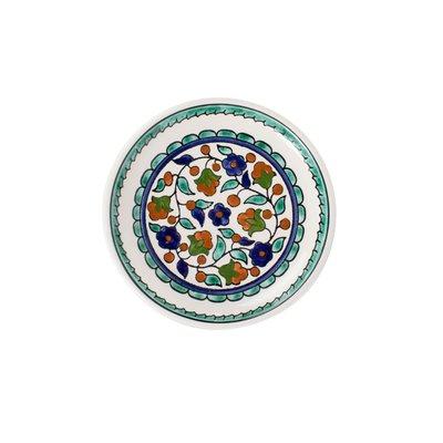 Ten Thousand Villages Floral Folklore Round Ceramic Dish