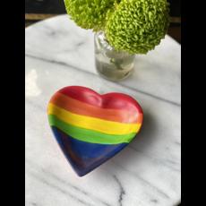 Global Crafts Kisii Stone Rainbow Heart Dish
