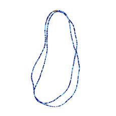 Global Crafts Long Maasai Shades of Blue Necklace