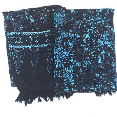 Blue Hand Black Batik Sarong