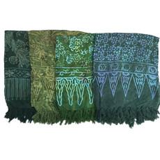 Blue Hand Batik Sarong Dark Green