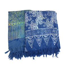 Blue Hand Medium Blue Batik Sarong