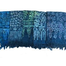 Blue Hand Batik Sarong Dark Blue