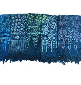 Blue Hand Dark Blue Batik Sarong