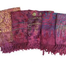 Blue Hand Pink Batik Sarong