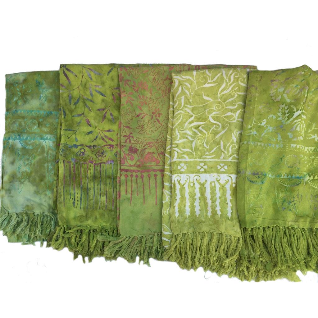 Blue Hand Medium Green Batik Sarong