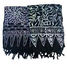 Blue Hand Black Batik Scarf
