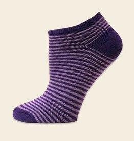 Maggie's Organics Organic Cotton Purple Pinstripe Footies