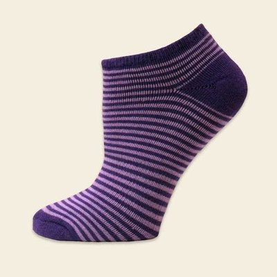 Maggie's Organics Organic Cotton Purple Pinstripe Footies