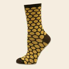 Maggie's Organics Bee Keeper Trouser Socks: Honey/Brown
