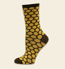 Maggie's Organics Bee Keeper Trouser Socks: Honey/Brown