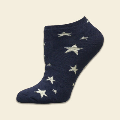 Maggie's Organics Organic Cotton Navy Stars Footies