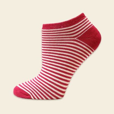 Maggie's Organics Organic Cotton Fuschia Pinstripe Footies
