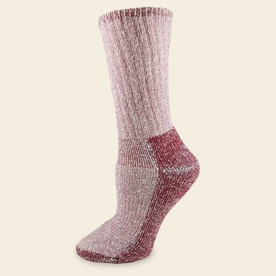 Maggie's Organics Organic Wool Killington Hiker Socks Raspberry 10-13
