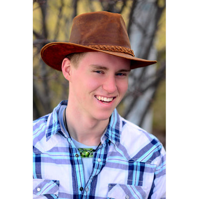 Minga Imports Aussie Leather Hat