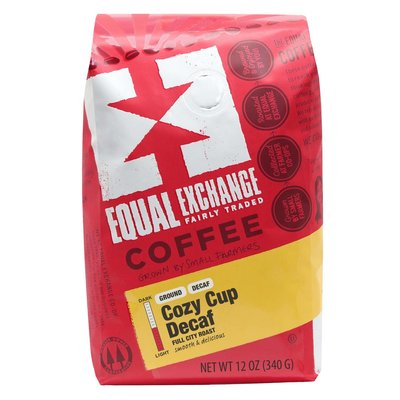 Equal Exchange Cozy Cup Decaf Coffee Drip Grind