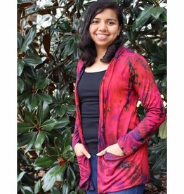 Unique Batik Thai Dye Straight Jacket with Pockets