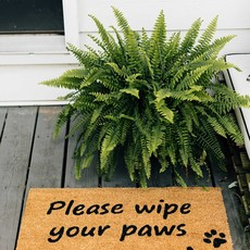 Ten Thousand Villages Wipe Your Paws Coir Doormat