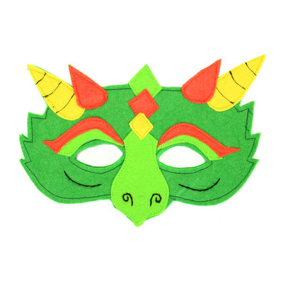 Minga Imports Felt Play Mask Dragon